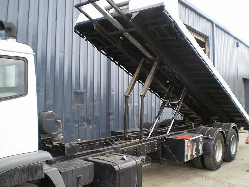 Tilt  slide tray for tow truck